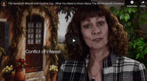 the IRS non-profit checklist video